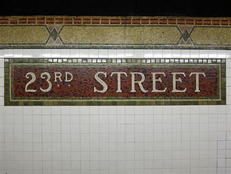 image gallery nyc subway tile signs