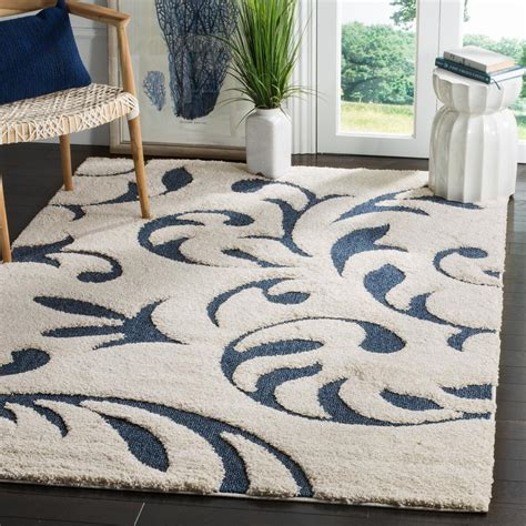 Safavieh Florida Shag Collection by Safavieh Florida Shag Blue 4 Ft X 6 Ft Area Rug