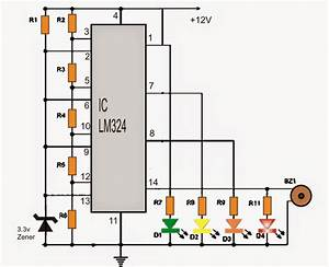 Car Battery Voltage Monitor Circuit