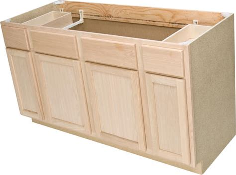 60 kitchen sink base cabinet quality one 60 quot x 34 1 2 quot unfinished oak sink base