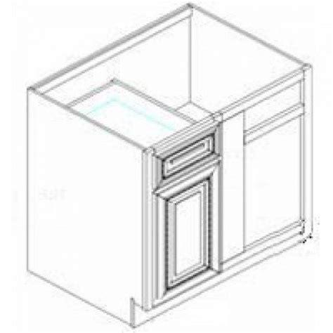 bblc42 45 spice maple base blind corner cabinet kitchen
