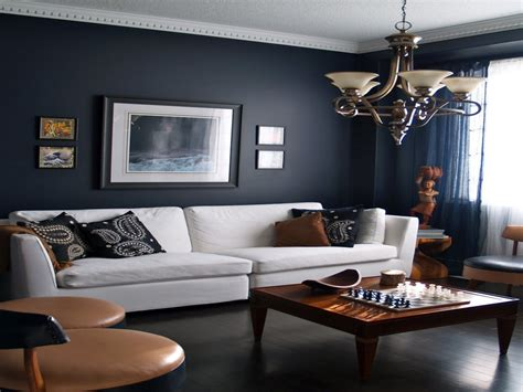 gray and navy blue living room home furniture decoration