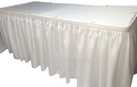 trade show table skirts 14 39 white polyester pleated table skirt skirting wedding