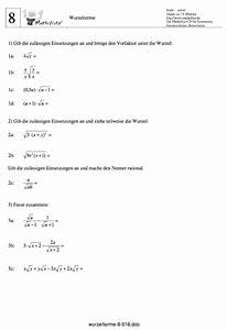 Wurzel Schriftlich Berechnen : wurzeln vereinfachen und berechnen matheaufgaben wurzeln ~ Themetempest.com Abrechnung