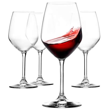 paksh novelty italian red wine glasses  ounce lead