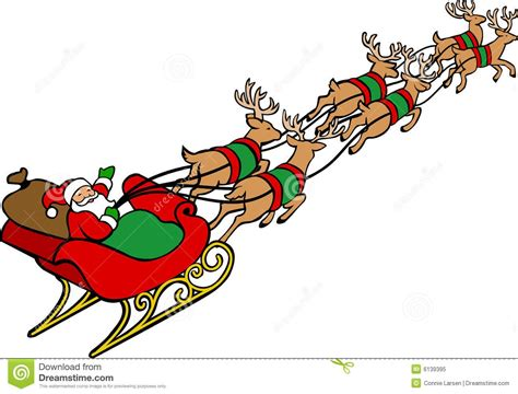 Santa Sleigh Clipart Sleigh Clipart Reindeer Sleigh Pencil And In Color