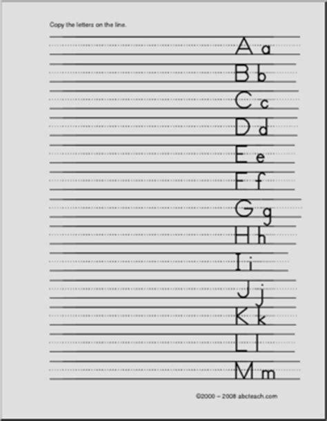 handwriting practice manuscript letters aa zz  left