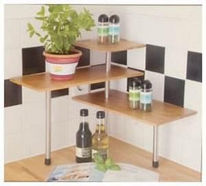 Etagere D Angle Cuisine : etagere d 39 angle bambou tablette d 39 epices cuisine ou plantes ~ Teatrodelosmanantiales.com Idées de Décoration