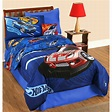 Hot Wheels 'Race' Twin-size Bed in a Bag with Sheet Set ...