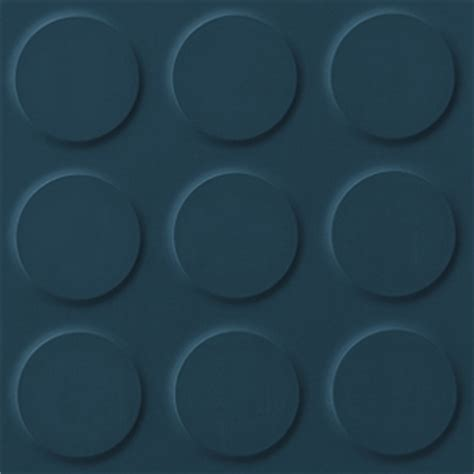 Deep Blue, blue coloured synthetic rubber tile flooring