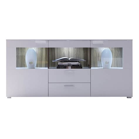 sideboard mit led sideboard ricky in wei 223 walnuss mit led beleuchtung