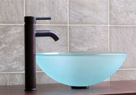 *comapre Price Bathroom Frosted Glass Vessel Sink Fe