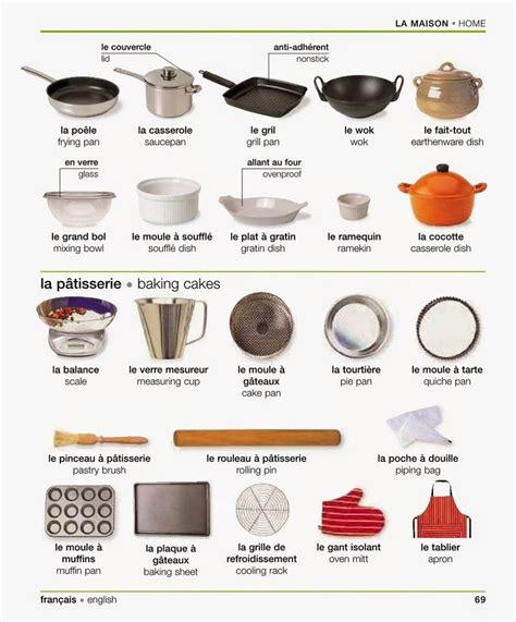 ustensiles de cuisine vocabulaire quot la maison les ustensiles de cuisine de