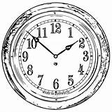 Clock Coloring Wecoloringpage Pages sketch template