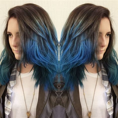 Dip Dyed Hair Is All The Rage This Rich Brunette With A