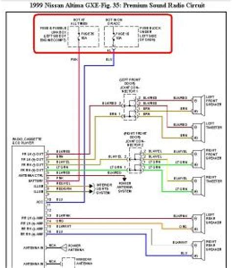 2006 Nissan Altima Bose Stereo Wiring Diagram by 1999 Nissan Altima Audio Cd Radio 1999 Nissan Altima