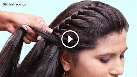 easy pretty side braid hairstyles  girls kurti blouse