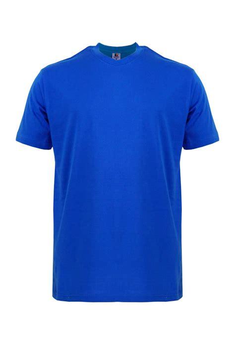 neck cotton t shirt foursquare roundneck t shirt 160gsm royal blue