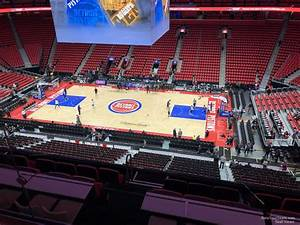 Detroit Pistons Seating Chart With Seat Numbers Mezzanine 9 At Little Caesars Arena Detroit Pistons