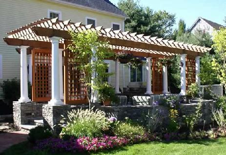 Pergola Designs Attached to House Plans