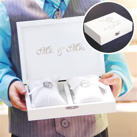 personalized tie the knot ring bearer pillow keepsake box