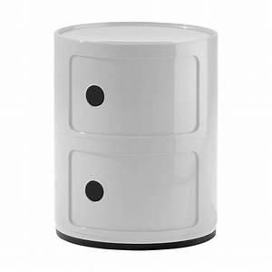 componibili kartell meuble de rangement 2 tiroirs blanc With meuble kartell