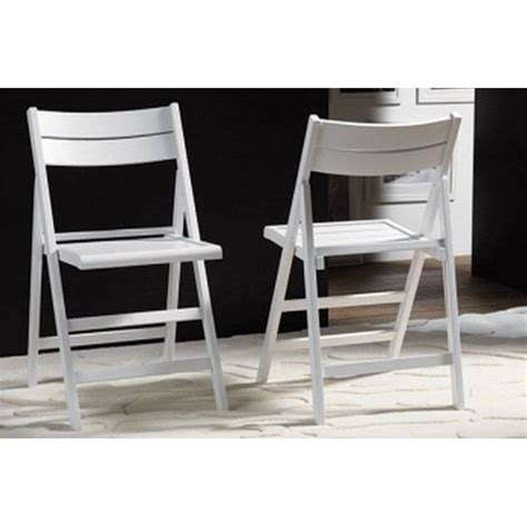 chaises blanche chaises pliantes tables et chaises lot de 2 chaises