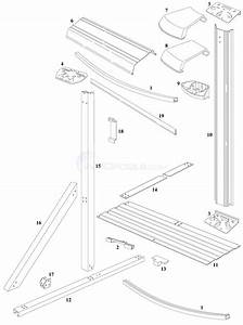 Monaco Elite 16 U0026 39 X32 U0026 39  Oval  Steel Top Rail  Steel Upright  Parts