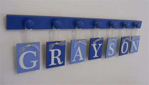 decor nursery letters name signs hanging baby boy nursery decor hanging wall letters name grayson with wall