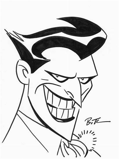 Joker Cartoon Drawing Timm Bruce Batman Sketch