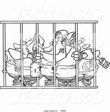 Coloring Pages Prison Cell Bars Cartoon Behind Template Hockey Team Outline Sketch Players Ron Vector sketch template