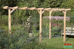 Holz Pergola Komplett Bausatz 3 Pfosten