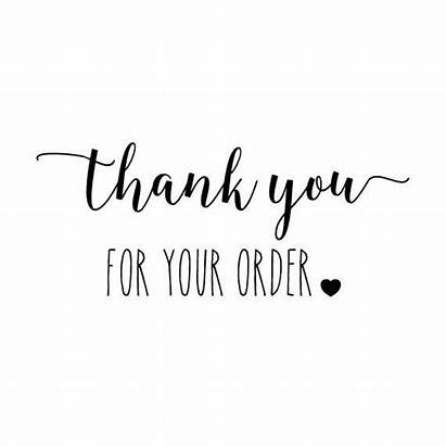 Thank Order Business Quotes Stamp Label Shopping