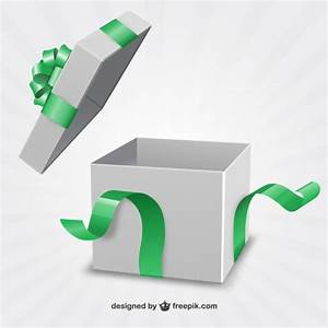 Present box with green ribbon Vector | Free Download