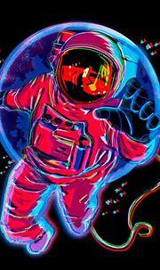 Trippy Astronaut Digital Art by Hinaki Rei