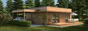 maison ossature bois contemporaine t4 plain pied 6928m2 With delightful la maison des artisans 3 maisons contemporaines constructeur maison contemporaine