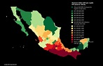 Mexican states GDP per capita PPP (Source: OECD) : mexico