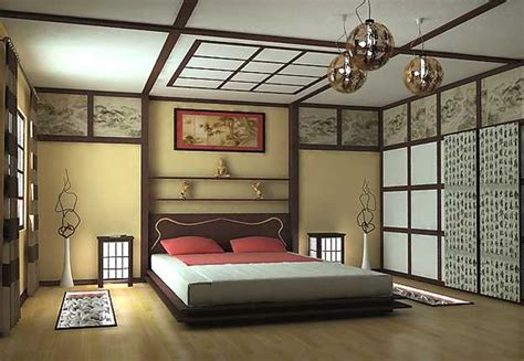 themed bedroom decor new asian interior decorating in japanese style