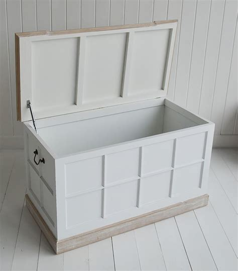 vermont small white storage trunk white bedside table