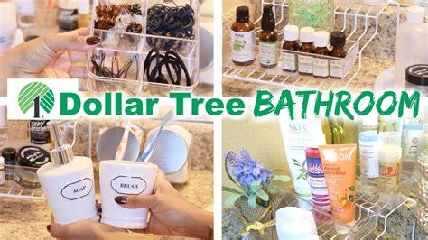 dollar tree bathroom organization youtube