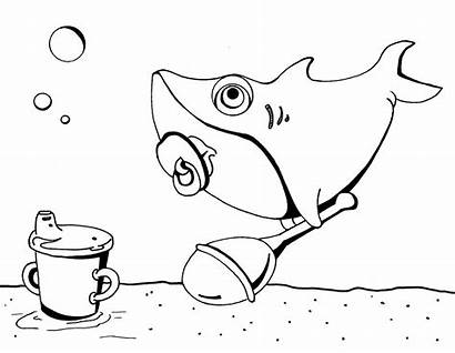 Shark Coloring Sharks Pages Pinkfong Printable Sheet