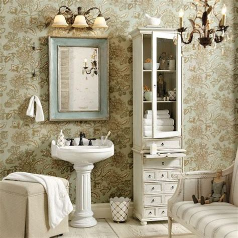 shabby chic bathroom wallpaper bathroom design bathroom decor ballard designs
