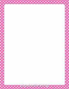 Pink And White Polka Dot Border Clip Art (54+)