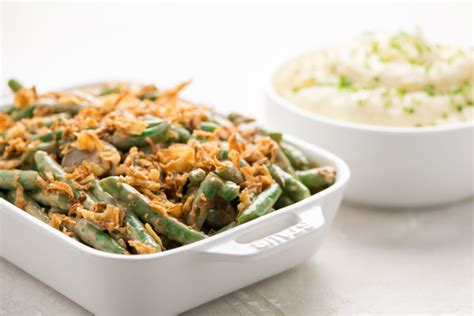 mashed potatoes  green bean casserole recipe home chef
