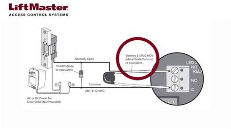 how to wire a door strike to the el2000 el2000ss or el25