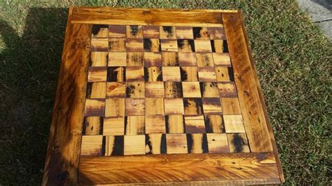 diy pallet wooden chess dining table pallet furniture plans