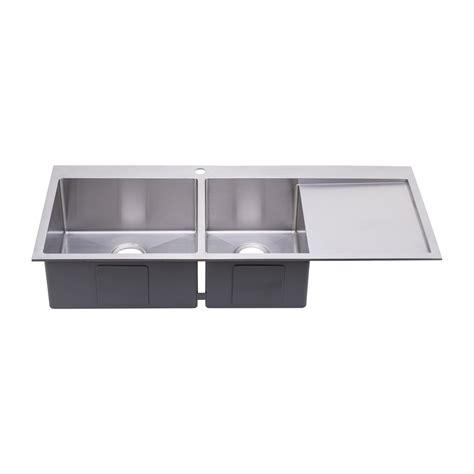 glass kitchen sinks megabai bai 1235 48 quot stainless kitchen sink duble bowl 1235