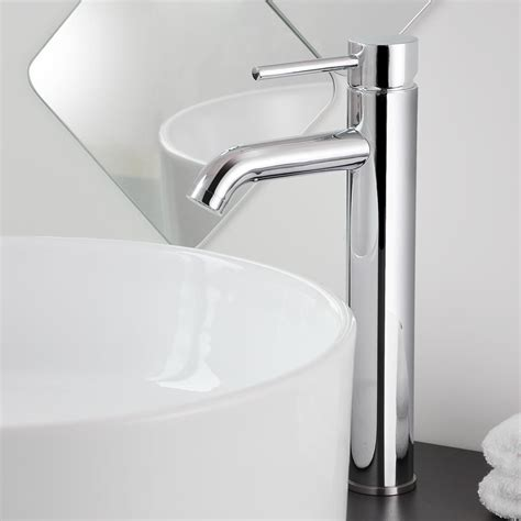 rubbed bronze faucets vs chrome 12 quot bathroom vessel sink faucet chrome brushed nickel