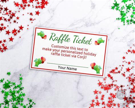 christmas raffle ticket template editable edit