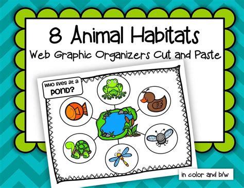 animals habitats 8 web graphic organizers cut and paste 310   78150144b007685454e4e20e9b4541c0